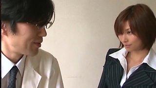 Crazy Japanese whore Akari Asahina in Amazing Fingering, Stockings/Pansuto JAV video