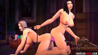 Hot Warcraft babes enjoying pussy drilling session