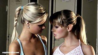 Athletic Seduction sensual lesbian scene by SapphiX