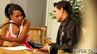 lesbo slimed by fake dick video clip 1