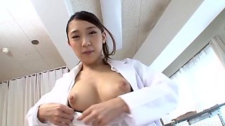 Stunning Hamasaki Mao makes a cock disappear in her hairy pussy