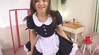 Fabulous Japanese whore Tomomi Takahara in Incredible Maid JAV scene