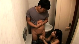 Milf removes son's cum in toilet - Part 2 On HDMilfCam.com