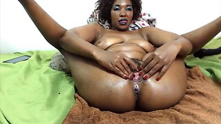 Moaning african princess with big butt and hairy twat