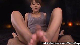 Jessica Kisaki Asian doll in bukkake