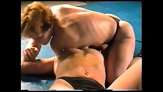 Hard-core lesbian Sex Fight on Academy Wrestling