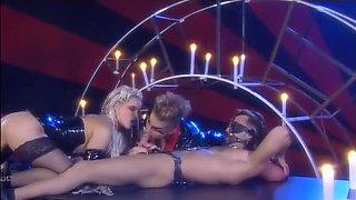 Hottest pornstars Kyra Kat and Sandra Iron in best foot fetish, blowjob porn movie