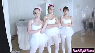 new spying instructor fucks ballerina teens in foursome