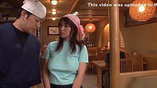 Rina Araki naughty Asian housewife gets kinky food insertion