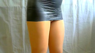 crossdresser pantyhose in black 093
