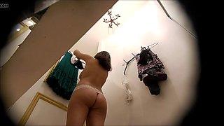 Dressing room, pink panties