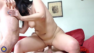 Taboo sex with Spanish mother and two sons