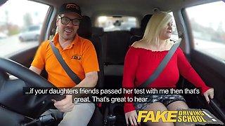 fake driving school busty mature milf fucks instructor
