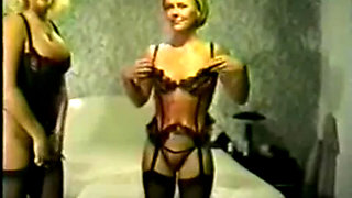 Jan B   Ally is sexy black stockings take her first bbc creampie