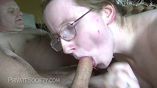 Heidi getting fucked by her sugar daddies