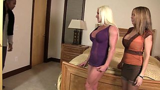 Hot Wife Rio and big Clit Ashley share a big black Dick