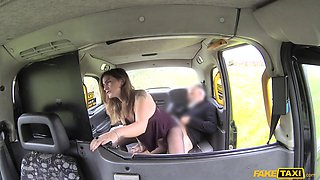 Adreena Winters & John in Taxi anal with big pointy nipples - FakeTaxi