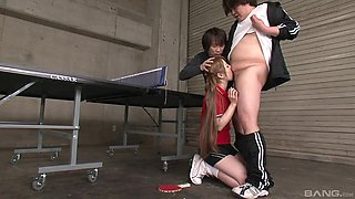 Long haired Japanese babe Ria Sakurai gets deepthroated by force