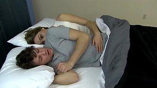 Young girl fucked her sleeping boyfriend. see description