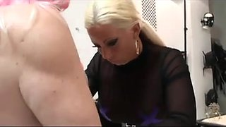 Two lovely wicked girls fuck their serf