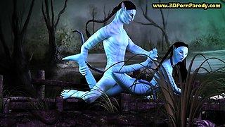 Neytiri getting fucked in Avatar 3D porn parody