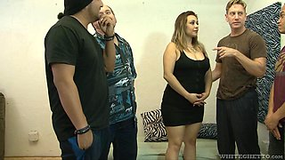 Busty mature MILF Audrey Blue can take a lot of cocks and cum