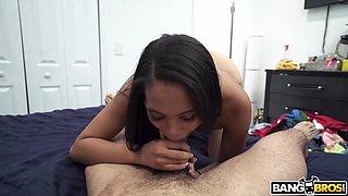 sexy maid sucks my cock