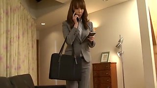 Incredible Japanese model Honami Takasaka in Amazing Secretary, Facial JAV clip