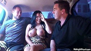 Big breasted hussy Sophia Lomeli shows off her big tits