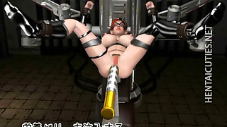 Chesty 3D anime slave gets fucked