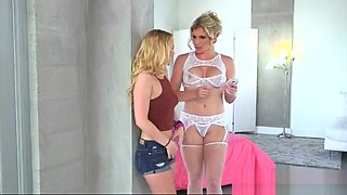 Hot Mom Cory Chase And Teen Bailey Brooke Lesbo Scene In Bed