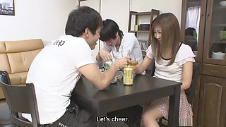 Naughty Hitomi Okubo is cheating on her partner