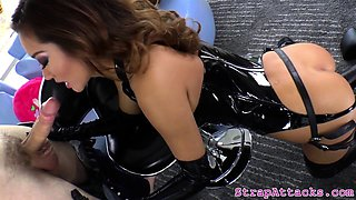 Asian prodomme disciplines sub with strapon