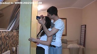 Cheating russian gf fucked by boyfriends pal