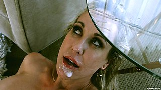 Brandi Love is a blonde MILF fucked hard by a handsome lover