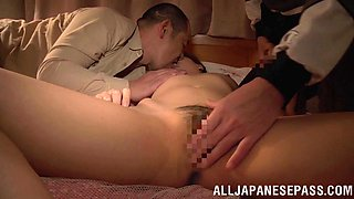 Nasty Asian girl gets fucked in the pile driver pose