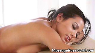 nasty massage blonde gets to seduce brunette for orgasms
