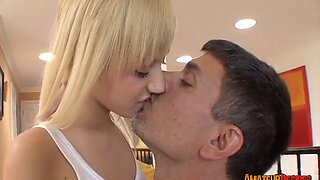 Supervising Blonde Amateur Emma Mae with a Fuck