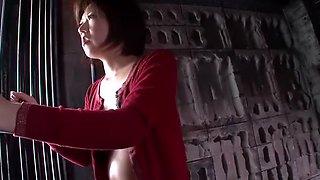 Hottest Japanese whore Shinobu Kasagi in Horny Threesome, Blowjob JAV movie