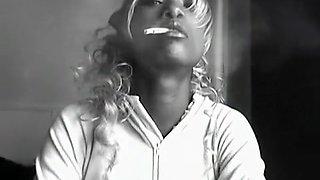 Amazing homemade Black and Ebony, Smoking sex video