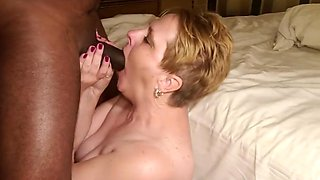 Wife takes a facial from BBC husband