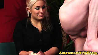 MILF doctor teases her patient during CFNM