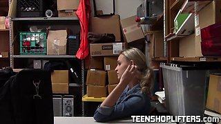 teenager Emma Hicks caught stealing in the store and receive her punishment