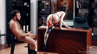 Brunette sweetie Jenna J Ross moans while she fucks in different poses