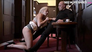 Glamour hot blonde babe Victoria Redd sucks off and pounded