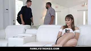 FamilyStrokes - Hot Body Stepsis Seduces Brother Cock