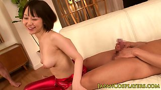 Cosplay nippon creampied and jizzed in mouth