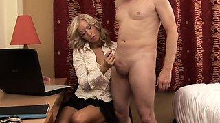 Dominant CFNM wife jerksoff cheating husband