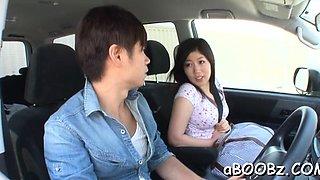 Insatiable japanese maid Kaori Saejima endures hard sex