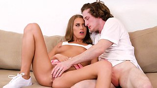 Blonde college babe gets banged by her horny boyfriend